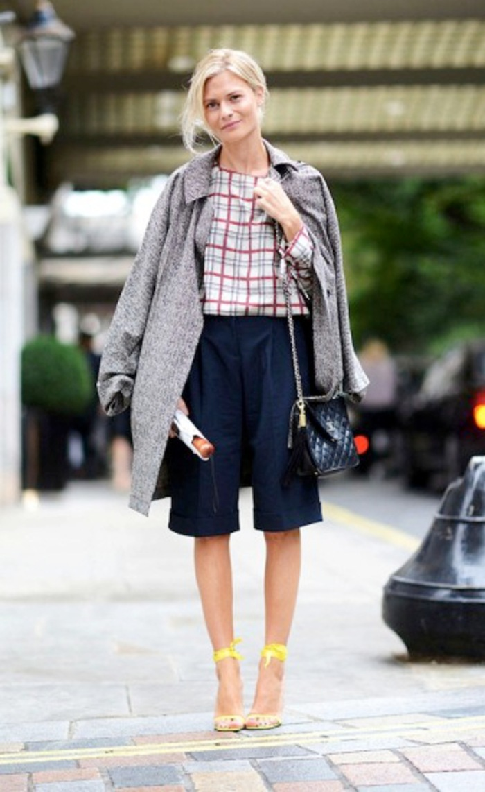 blog_Le-Fashion-Blog-Street-Style-Classic-With-A-Twist-London-Fashion-Week-Plaid-Top-Knee-Length-Shorts-Via-Elle-Street-Chic1-337x550
