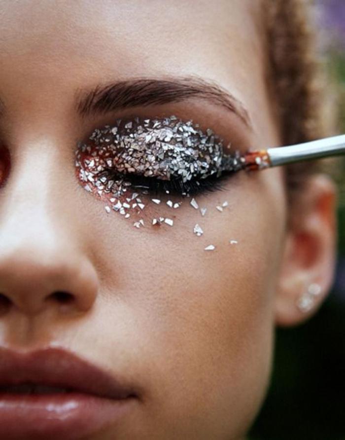 blog_Glittery eye shadow, festive makeup