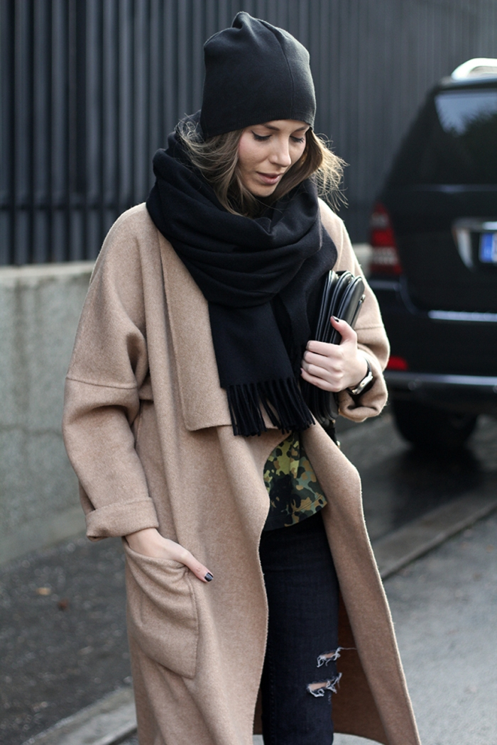 blog_vanja, fashion and style blog, acne studios scarf, zara camel coat