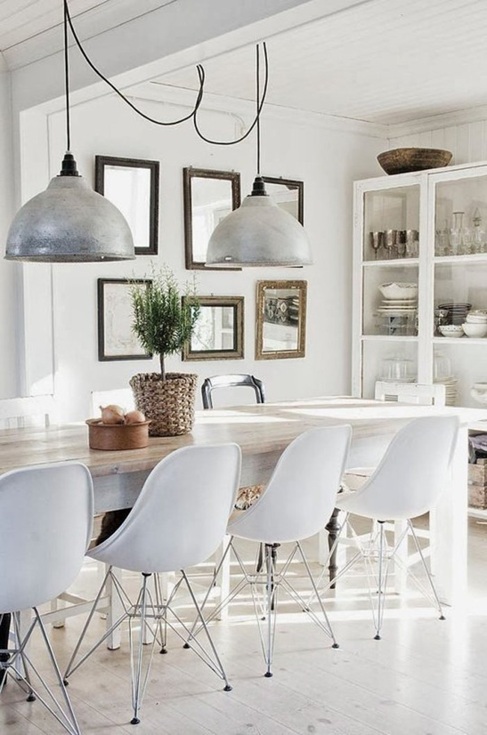 blog_white dining room eames chairs metal pendant light