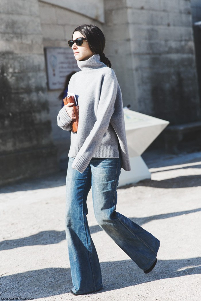 blog_Paris_Fashion_Week-Fall_Winter_2015-Street_Style-PFW-Flared_Jeans-turtle_Neck--790x1185