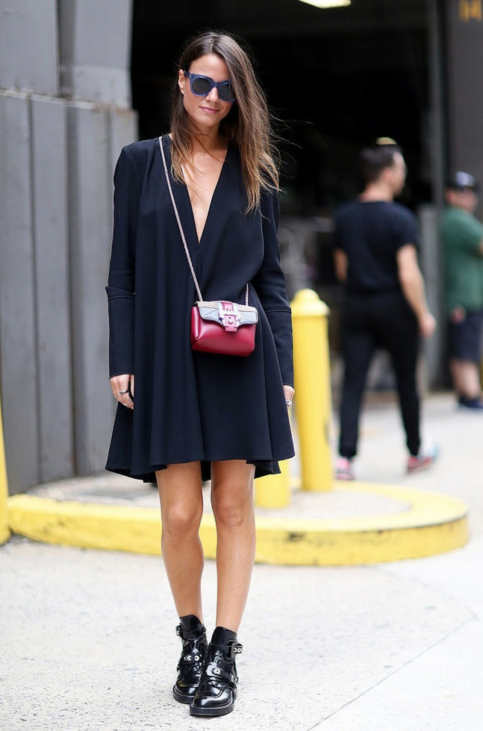 blog_Le-Fashion-Blog-Street-Style-Blue-Sunglasses-Plunge-Neck-Proenza-Schouler-Little-Black-Dress-Mini-Bag-Balenciaga-Boots-Popsugar-1