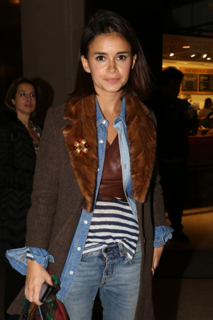 NEW YORK, NY - FEBRUARY 11:  Miroslava Duma arrives at the Oscar de la Renta fashion show during Mercedes-Benz Fashion Week Fall 2014 on February 11, 2014 in New York City.  (Photo by Chelsea Lauren/Getty Images)