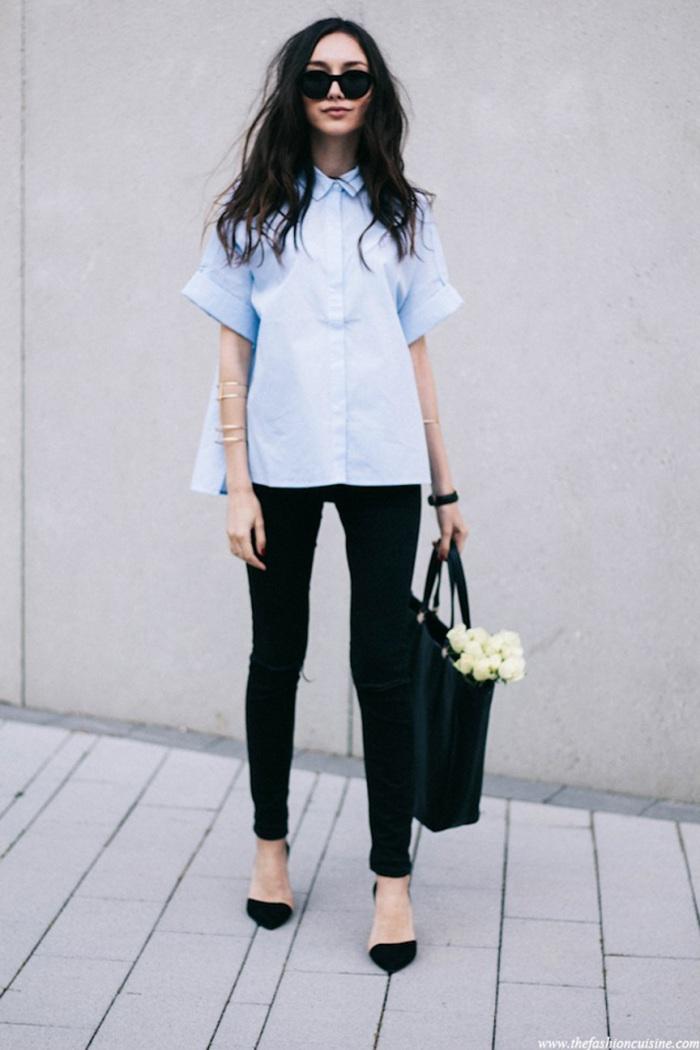 blog_Le-Fashion-Blog-Polished-Boxy-Short-Sleeve-Poplin-Blue-Button-Down-Shirt-Black-Skinny-Jeans-Dorsay-Heels-Via-The-Fashion-Cuisine