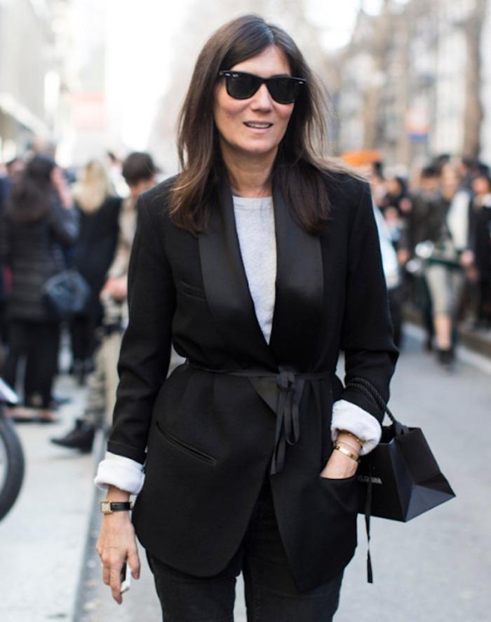 outside Dolce Gabbana, fashionweek fw 2014, emmanuelle alt