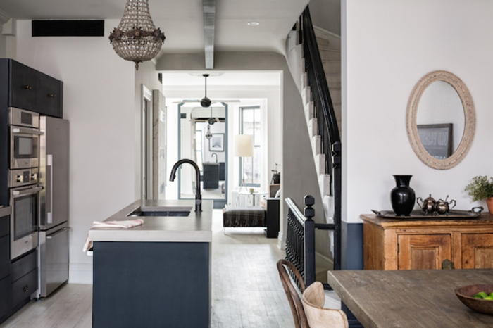 Townhouse renovation in Brooklyn, New York.