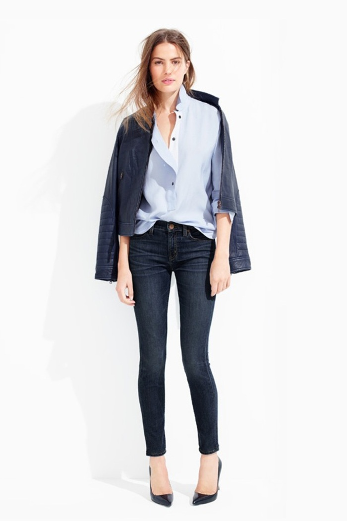 blog_Le-Fashion-Blog-Casual-Friday-Work-Office-Style-JCrew-Navy-Leather-Jacket-Light-Blue-Button-Down-Shirt-Dark-Skinny-Jeans-Black-Pumps