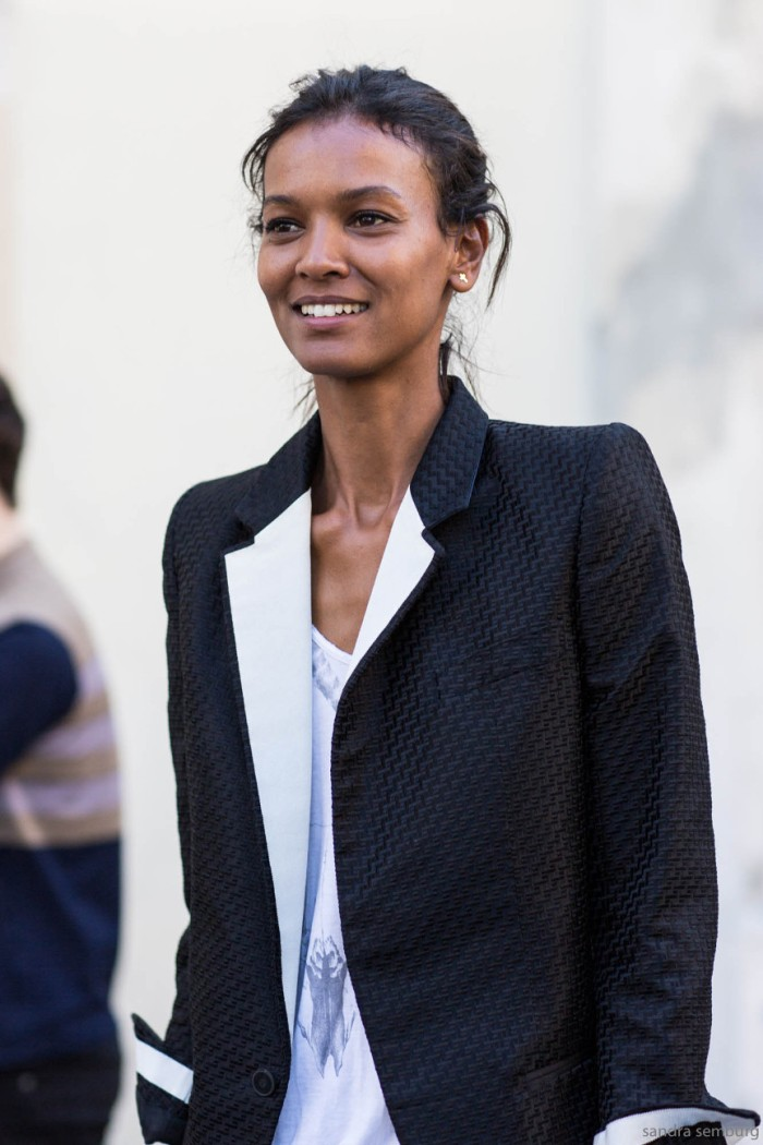 PAris Fashionweek ss2015 day 4, outside Haider Ackermann, liya kebede