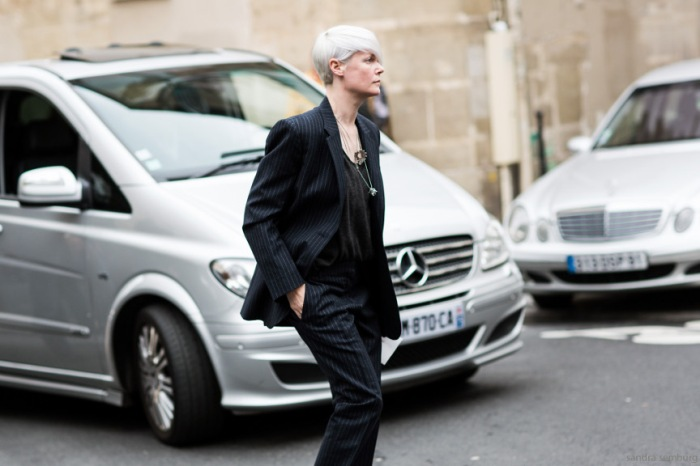 Paris Fashionweek day 6, outside Giambattista Valli, Kate Lanphear